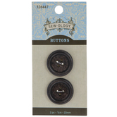 Round Tire Wood Buttons