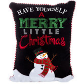 Have A Merry Christmas Snowman Pillow