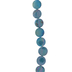 Blue Iridescent Disc Coated Shell Bead Strand