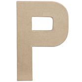 "Paper Mache Letter P - 8 1/4"""