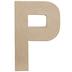 Paper Mache Letter P - 8 1/4
