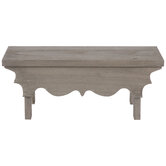 Gray Scalloped Wood Stand