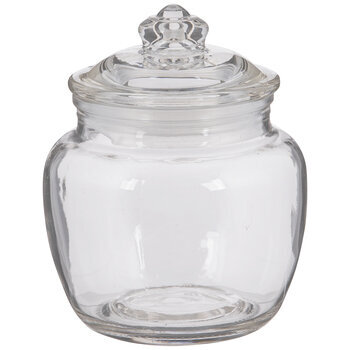 Round Glass Canister