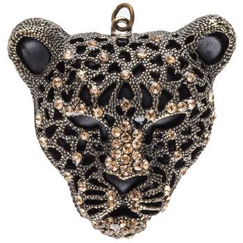 Rhinestone Cheetah Head Pendant