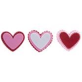 Stitched Heart Felt Stickers