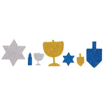 Hanukkah Glitter Foam Stickers