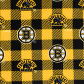 NHL Boston Bruins Allover Fleece Fabric