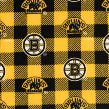 NHL Boston Bruins Allover Fleece Fabric