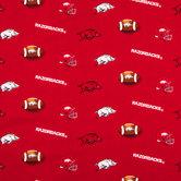 Arkansas Allover Collegiate Cotton Fabric