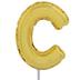 Letter Balloon Garden Pick - C