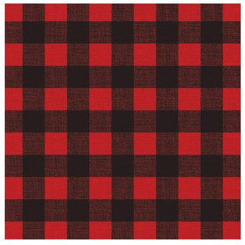 "Red & Black Buffalo Check Scrapbook Paper - 12"" x 12"""