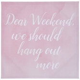 Dear Weekend Canvas Wall Decor