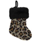 Mini Leopard Print Stocking