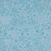 Light Blue Bee Floral Cotton Calico Fabric