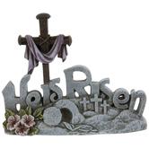 He Is Risen Cross Decor
