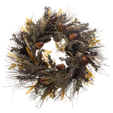 Lotus Pod, Acorn & Berry Wreath