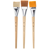 Jumbo Flat Paint Brushes - 3 Piece Set