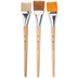 Jumbo Flat Paint Brushes - 3 Piece Set