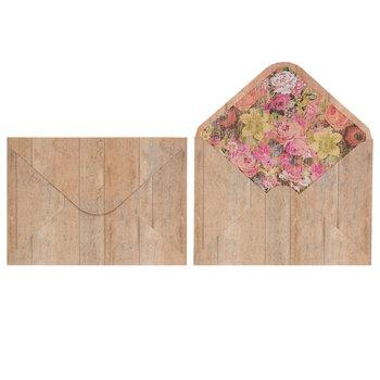 Floral Wood Plank Invitations