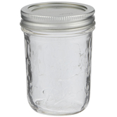 Wide Mouth Glass Mason Jar - 8 Ounce