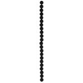 Black Round Agate Bead Strand