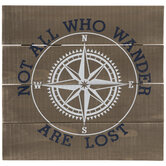 Not All Who Wander Are Lost Compass Wood Wall Decor