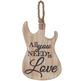 All You Need Is Love Guitar Wood Wall Decor