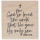 John 3:16 Rubber Stamp