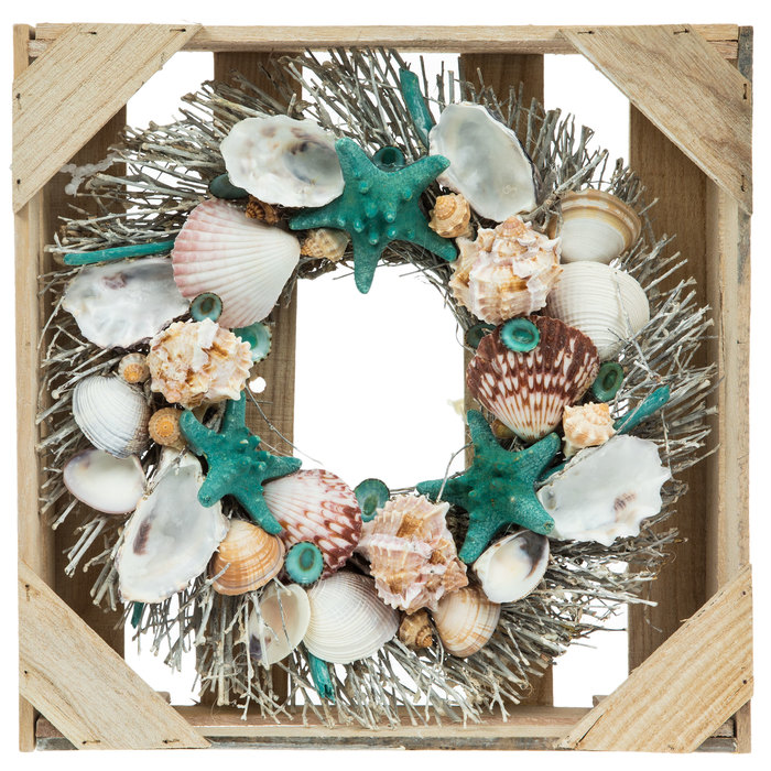 Hobby Lobby Regent Square Christmas Ornament 2021 With Us Always Nautical Wreath In Crate Wood Wall Decor Hobby Lobby 1785443