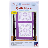 Lavender Flowers Embroidery Quilt Blocks Kit