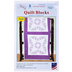 Lavender Flowers Embroidery Quilt Blocks Kit