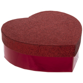 Red Glitter Heart Box - Small