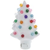White Christmas Tree Night Light