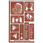 Cookies For Santa Adhesive Glass Etching Stencils