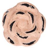 Distressed Pink Metal Rose Knob