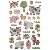 Farm Animal Puffy Stickers
