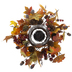 Leaves & Pinecones Glass Candle Holder Centerpiece