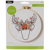 Floral Deer Embroidery Kit
