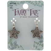 Black Rhinestone Star Charms