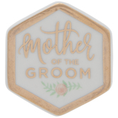 Mother Of The Groom Hexagon Pin