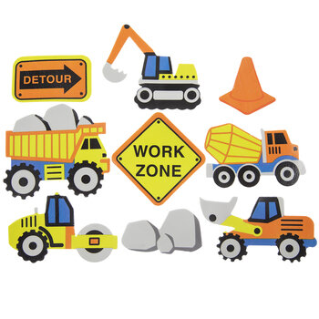 Construction Foam Stickers