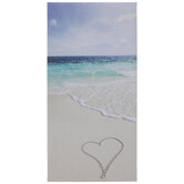 Heart In Sand Canvas Wall Decor