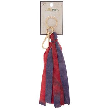 Red & Purple Tassel Keychain