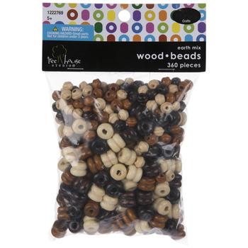 Earth Multi Ridged Wood Beads