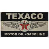 Texaco Winged Metal Sign