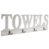 Towels Wood Wall Decor With Hooks