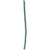 Green & Black Round Bead Strand - 6mm