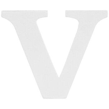 """White Wood Letter V - 3"""""""