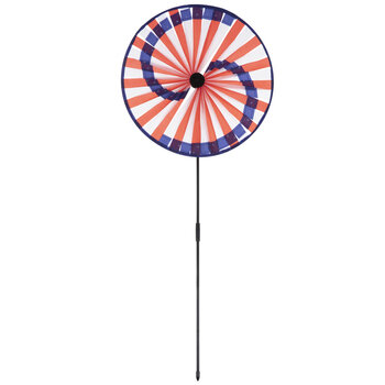 Spiral American Flag Spinning Garden Stake
