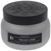 Italian Linen Candle Tin